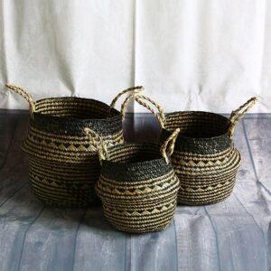 Panier À Linge Bambou Noir