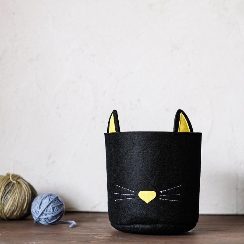 Panier À Linge Design Noir